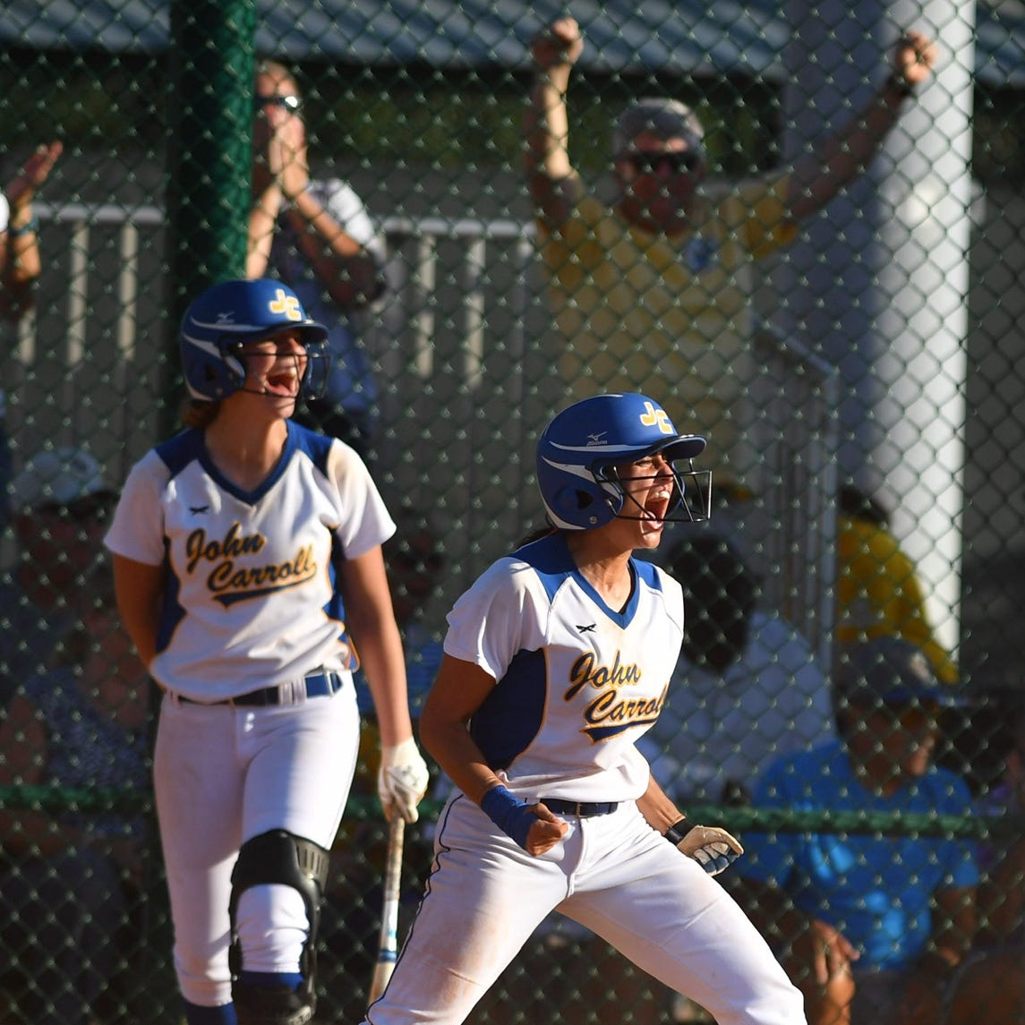 Seven-run inning propels John Carroll softball to state championship game
