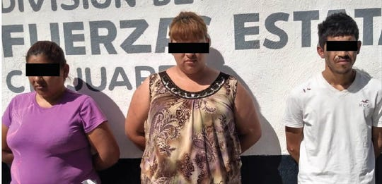 Maria M.E., Graciela A.G. and Juan Jose C.P. are accused of being part of Juárez hit squad for La Linea crime group.