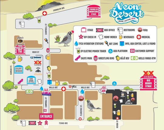 Neon Desert Music Festival map