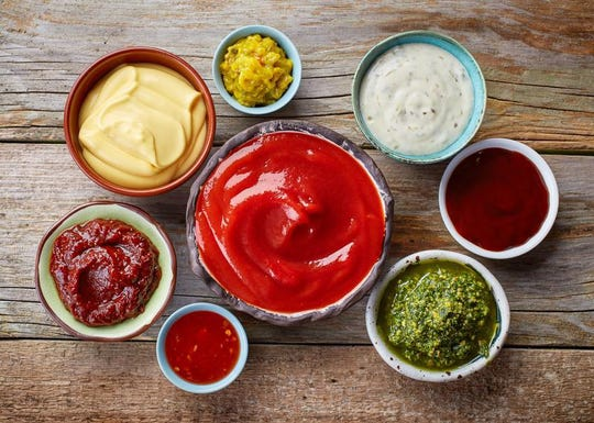 various dipping sauces