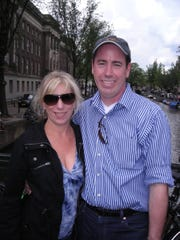 Sandy and Jef Dye on their 2011 honeymoon. Sandy Dye has started a scholarship program to honor her late husband, a Ventura County Sheriff's search and rescue volunteer who was killed while helping others.