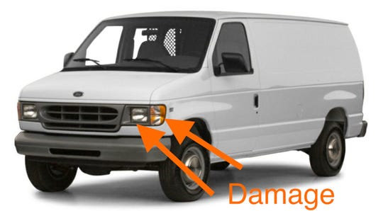 Ventura police believe a white 1997-2002 Ford Econoline van that looked similar to this one was involved in a hit-and-run crash that killed a 54-year-old woman last week.