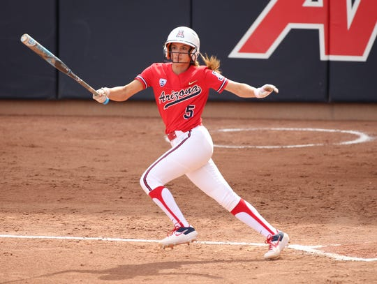 Oxnard High graduate Reyna Carranco returned to the lineup Saturday after missing two weeks with a broken hand to lead the University of Arizona softball team to the NCAA Division I Super Regionals.