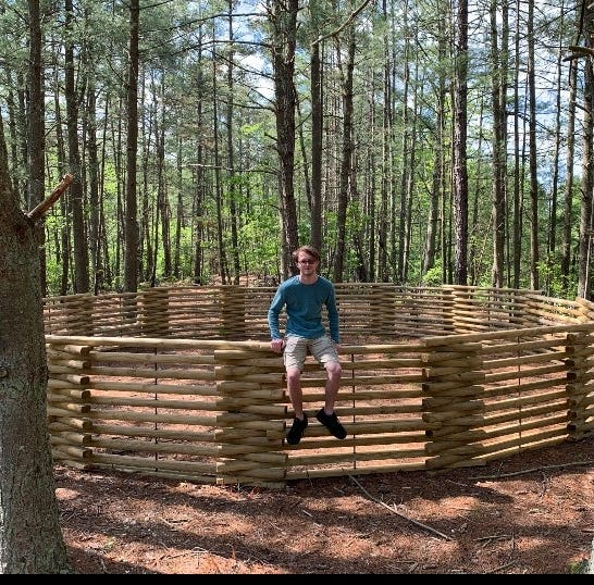 Eagle Scout constructs 'mega gaga pit' for Camp Merrywood