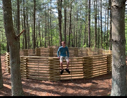 """For his Eagle Scout project, Jacob Halter, 18, of Pittsgrove completed a""""mega gaga pit"""" atCamp Merrywood, the Cumberland Cape Atlantic YMCA's day camp."""