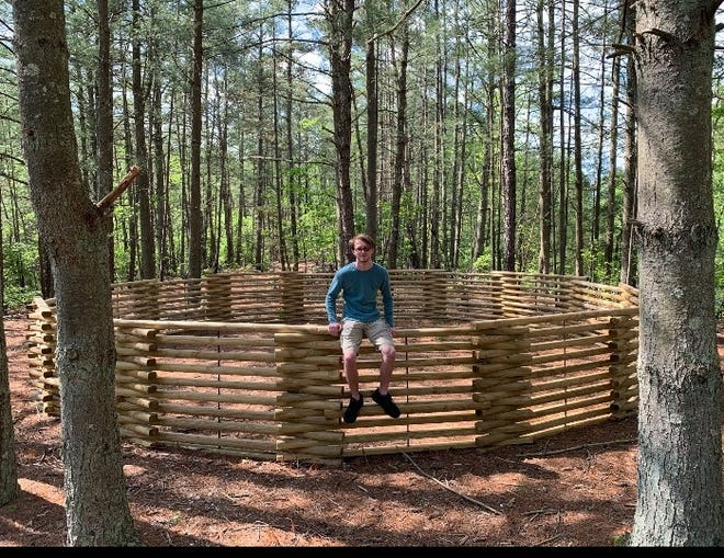 "For his Eagle Scout project, Jacob Halter, 18, of Pittsgrove completed a ""mega gaga pit"" at Camp Merrywood, the Cumberland Cape Atlantic YMCA's day camp."