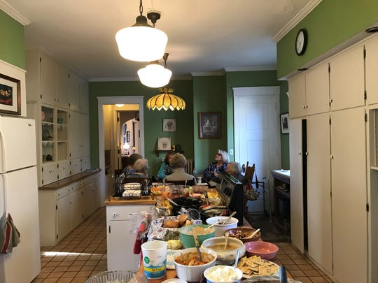 The kitchen at the Everest Inn bed and breakfast was full for a potluck dinner on May 20, 2019 as owners Dave and Lori Torkko announced they were finally retiring at the end of the month. The inn will become a Catholic convent in the fall.