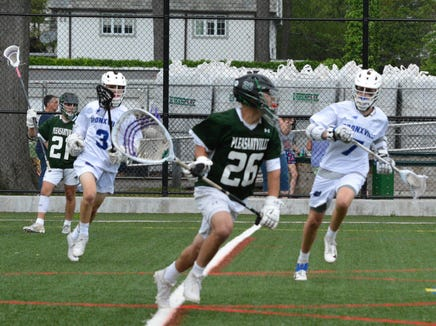 Pleasantville let a five-goal lead get away, but Jack Howe delivered an 11-10 win in overtime at Bronxville, giving the Panthers a chance to defend their Class D title.