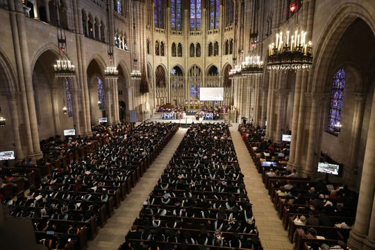 The College of New Rochelle held their 112th and final commencement at the Riverside Church in New York, May 21, 2019.