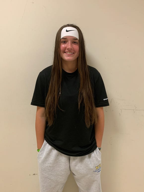North Salem freshman goalie Izzy Conley, who has played a huge role in the No. 14-seed Tigers' ascent to the Section 1 Class D championship game, has been voted Journal News/lohud girls lacrosse Player of the Week for the week ending May 19, 2019.