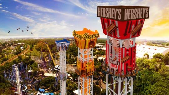 Hershey's Tripletower Aerial