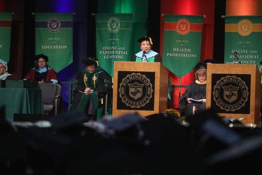 Wilmington University College of Health Professions and College of Technology commencement ceremony at the Chase Center Monday, May 20, 2019 in Wilmington where 337 graduates took part.