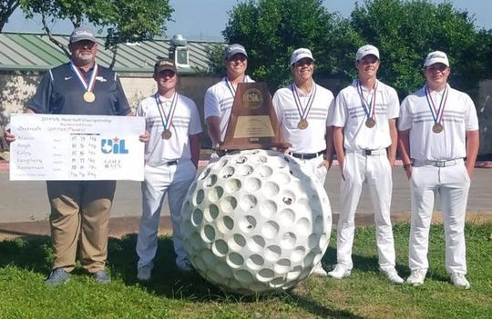 The Quanah boys golf team finished in third place Tuesday at the UIL 2A Boys State Tournament.