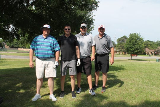 The team from Twilco Operating LLC, Lance Anderson, Rodney Case, Kyle Tucker and Todd Twilligear, placed first in the Desk and Derrick Club of Wichita Falls golf tournament held recently. The team played in the second flight of golfers.