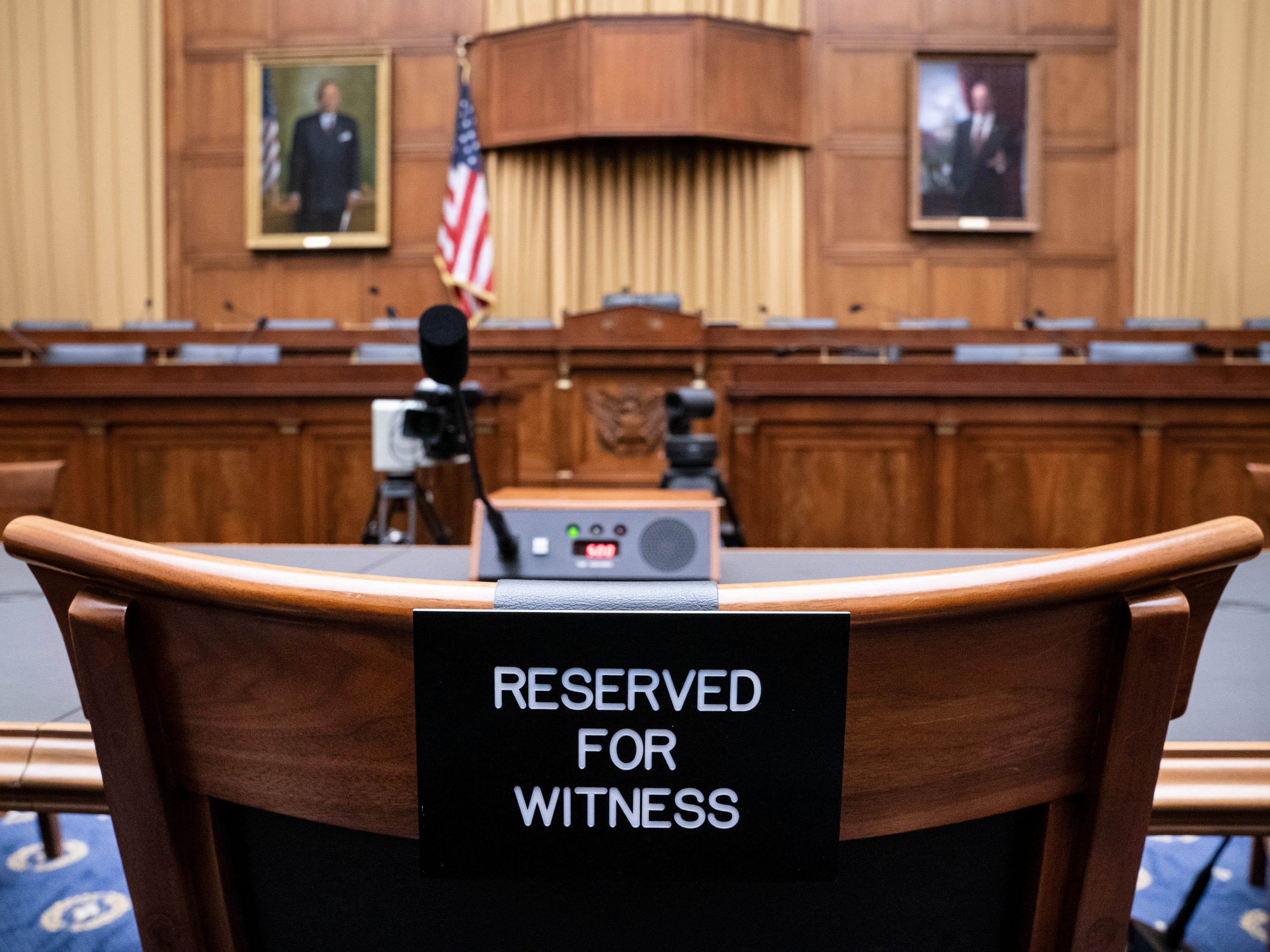 The witness chair in the House Judiciary Committee is expected to be without former White House Counsel Don McGahn, who was a key figure in special counsel Robert Mueller's investigation, on Capitol Hill in Washington,  May 21, 2019. President Donald Trump directed McGahn to defy a congressional subpoena to testify but the committee's chairman, Rep. Jerrold Nadler, D-N.Y., has threatened to hold McGahn in contempt of Congress if he doesn't appear.