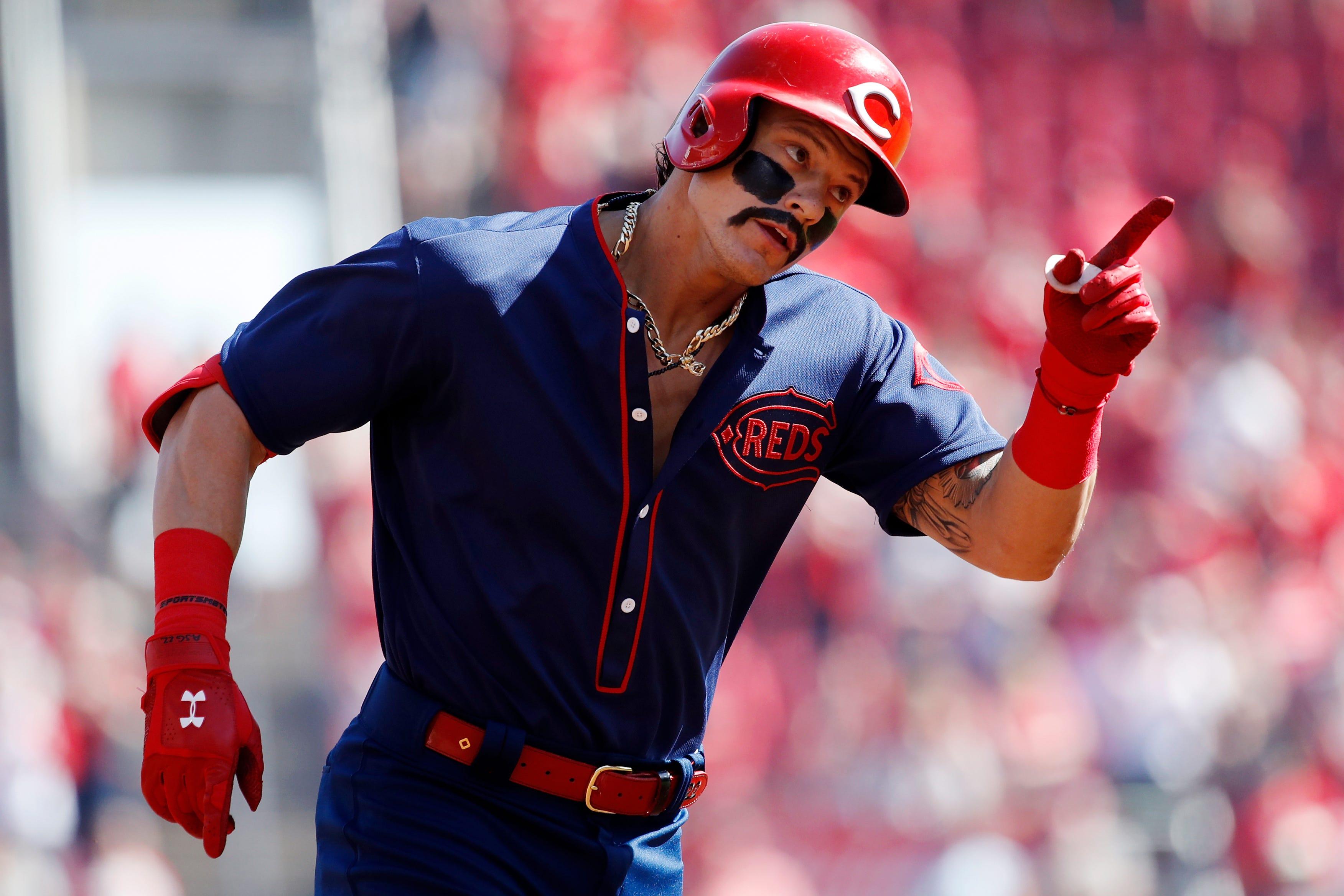 Fanartikel Mlb Baseball T-shirt Cincinnati Reds Joey Votto 19 Shades-victory Weitere Ballsportarten