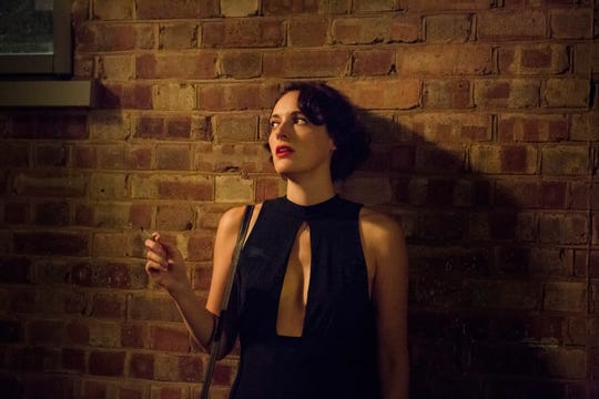 "Phoebe Waller-Bridge takes a smoking break as the titular character in Amazon's ""Fleabag."""