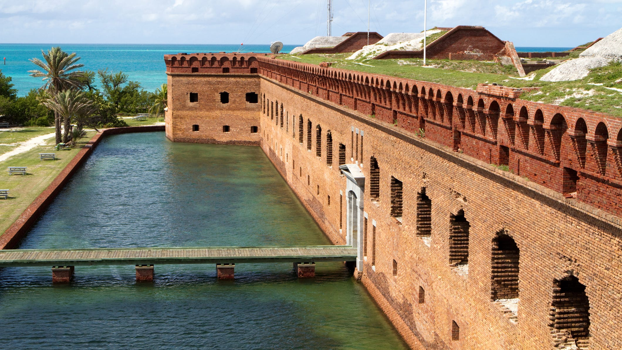 Fort Jefferson is one of the largest 19th-century forts in the nation.