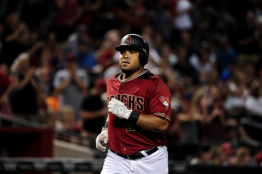 Yasmany Tomas, shown with the Diamondbacks, hit four home runs for Arizona's Class AAA affiliate Monday night.