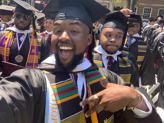 Elijah Dormeus was among hundreds of Morehouse College students who learned on graduation day that their student debt would be covered by the commencement speaker.