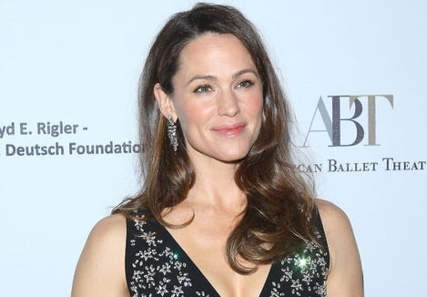 Jennifer Garner told graduates at her old alma mater, Denison University, to insist on optimism.