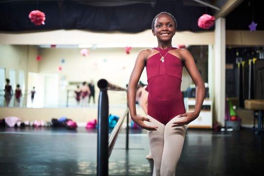 Juliánne Arruda practices ballet after school.