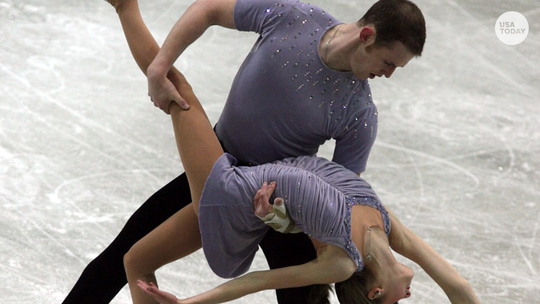 Former figure skater says she was abused by partner who killed himself