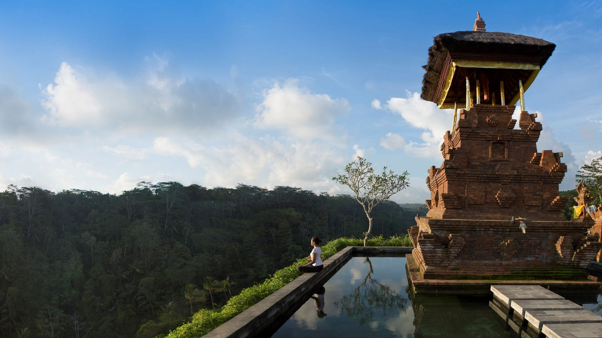 Mandapa, A Ritz-Carlton Reserve in Ubud, Bali, transports guests to a bygone era, steeped in Buddhist spirituality.