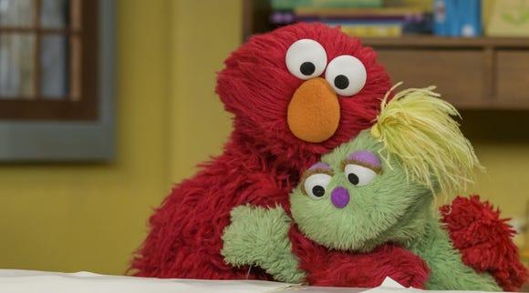 Elmo and Karli on 'Sesame Street'