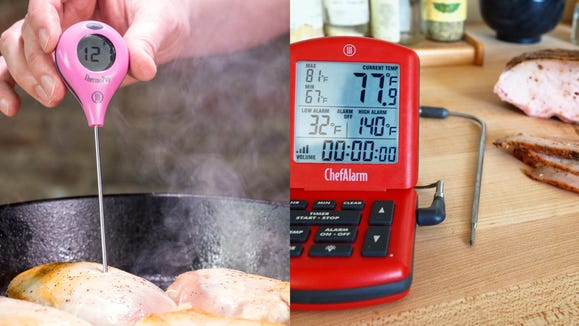 ThermoWorks meat thermometers will cook your burgers and steaks to the perfect temp every time.