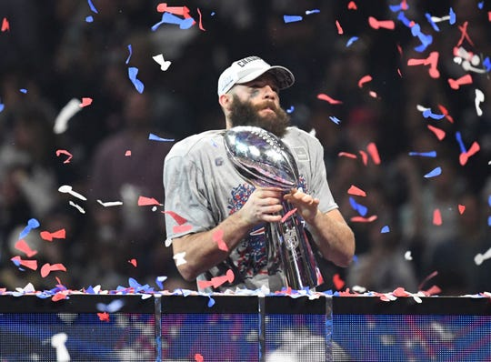 Patriots WR Julian Edelman earned Super Bowl LIII MVP honors.