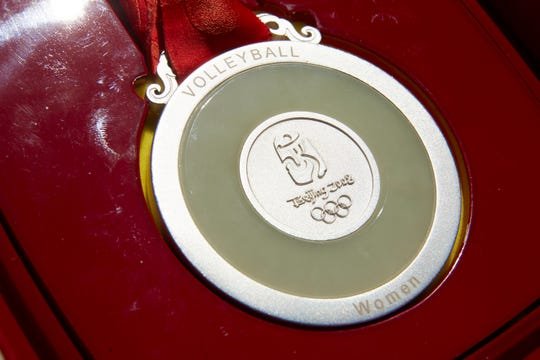An Olympic medal belonging to former Olympic volleyball player Danielle Scott.