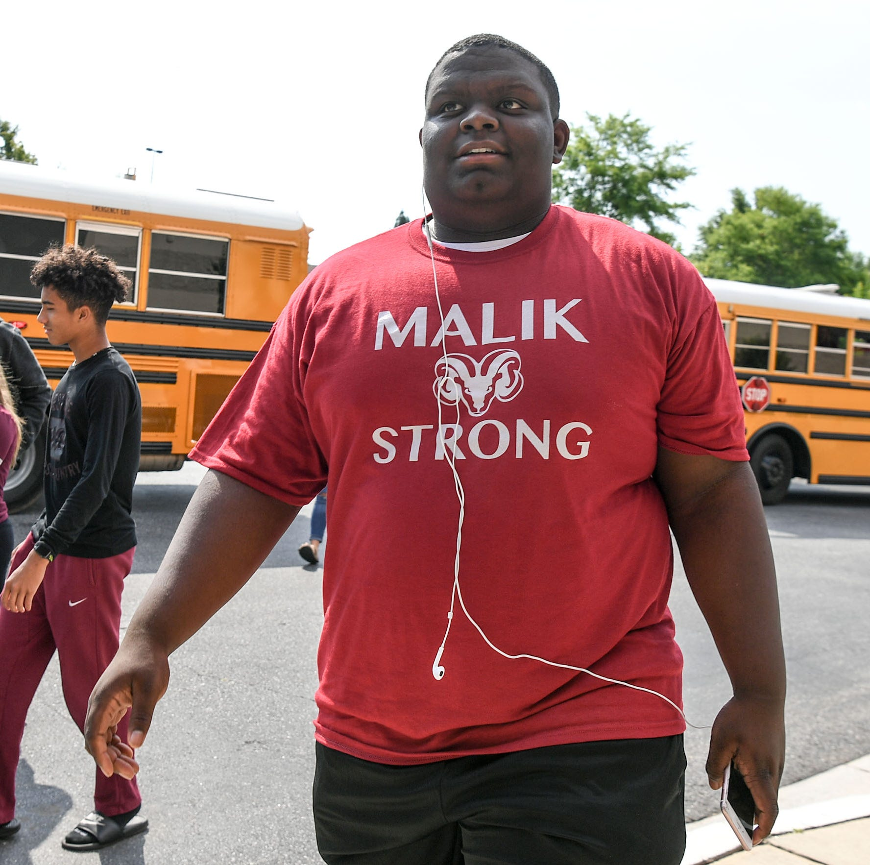 Westside football player Malik Stowers remains positive in his battle against cancer