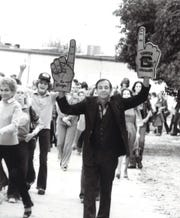 Cooper High School Principal Roger Baurenfeind kept his finger(s) on the pulse of school activities.