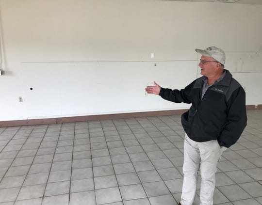 Pennfield Charter Township Tony Goodman envisions a peanut shop opening in Capital Square, Pennfield's only plaza that Goodman and his business partners purchased in January.