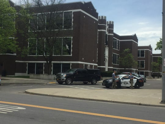 Union-Endicott High School was on lockdown May 22 after an unauthorized individual entered the school.