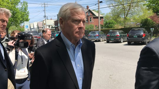 Bill Stenger of Newport, Vermont, seen leaving Vermont Federal Court in Burlington on Wednesday, May 22, 2019, to answer to charges related to a visa-fraud case in Vermont's Northeast Kingdom.