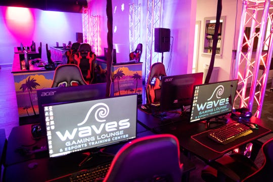 Waves Resort Corpus Christi's new gaming lounge and esports training center.