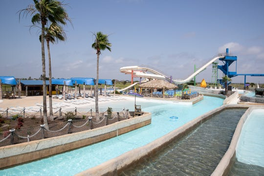 Waves Resort Corpus Christi's water park located on padre island.