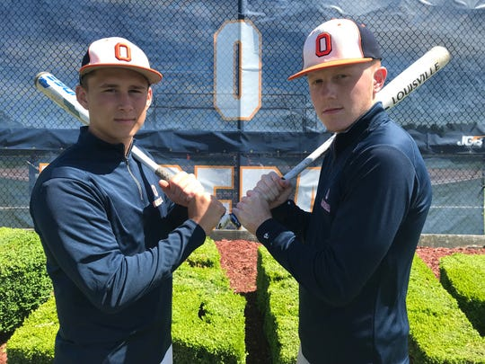 Overbrook junior Dylan Scully, left, and senior Stephen Easterday have helped the Rams bounce back from a disastrous 2018 season.