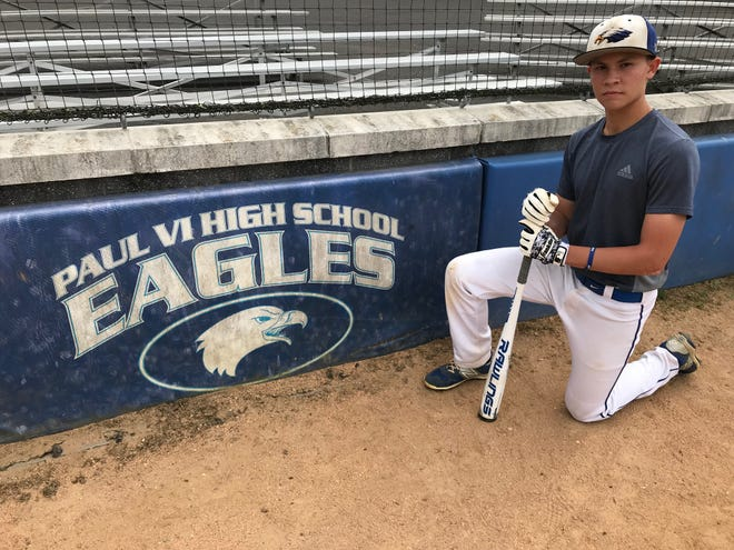 Paul VI junior Ryan Donnelly is second on the team in base hits this season.