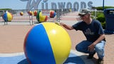 The concrete beach balls at Wildwood's iconic welcome sign get a fresh coat of paint just in time to kick off the unofficial start to summer.