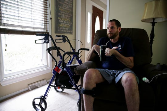 Paul Rinderknecht, who suffers from ALS, pictured at his home in Springfield Township, Wednesday, May 22, 2019, is planning a cross-country family trip this summer.