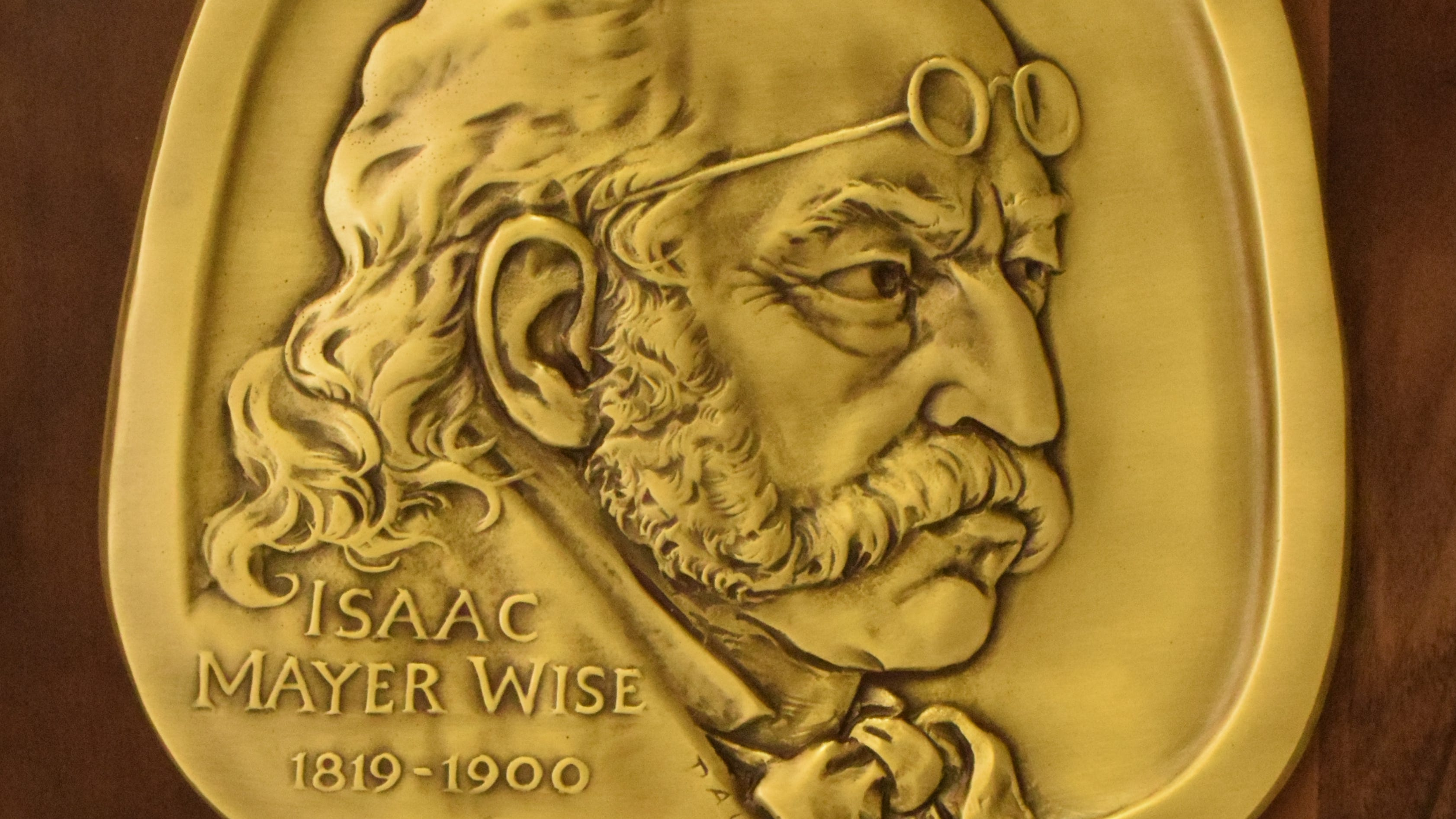 Isaac Mayer Wise (1819 to 1900), leader of Reform Judaism, is the 2019 inductee to the Jewish-American Hall of Fame. The medal was designed by Eugene Daub.