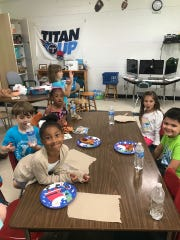 Spanish immersion students enjoy the last day of school class party May 22, 2019.