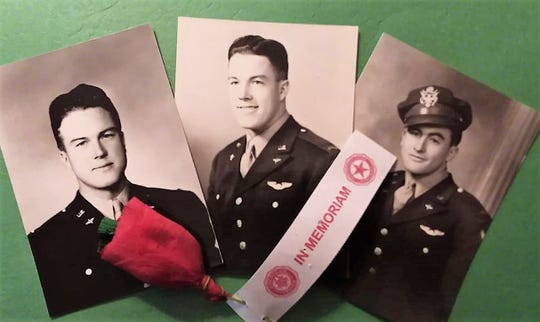Photos of Danny, Dale, and Junior Wilson of Minburn, who never came home from World War II.