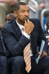 Juwan Howard as an assistant with the Miami Heat.