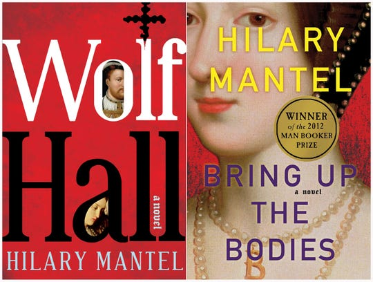 "Book covers for ""Wolf Hall"" and ""Bring Up the Bodies"" both by British author Hilary Mantel."