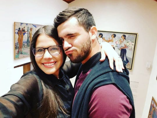 Luis Contreras and his girlfriend.