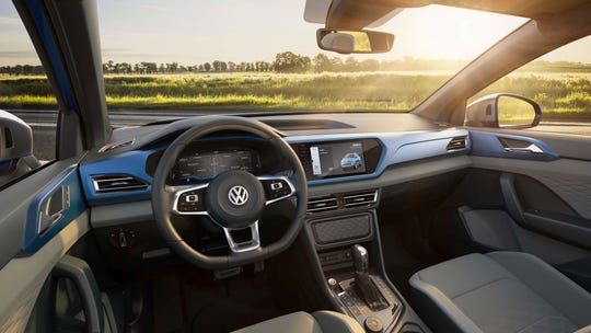 Likely priced in the low $20,000 range, the car-based, 2019 compact VW Tarok pickup truck concept would feature a typically upscale VW interior.